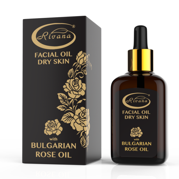 Facial oil with Bulgarian rose oil for dry skin